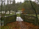 Narodni park Češka/Saška ŠvicaIzletniški mejni prehod na češko stran v Kirniztschklammu.