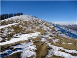 Srednji in Mrzli vrh ter MatajurMrzli vrh