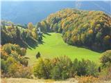 Polhograjska Grmada in Toščpogled v dolinio