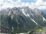 Croda Rossa di Sestomogočna Punta de tre Scarpei-Dreisushterspitze