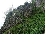 Bavšica - Pelc nad Kloncami - Pod Špičkom - Bavški Grintavec - Bavšicana poti sta dva strma vzpona