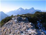 Crete dal Cronzz vrha lep pogled na skupino Grauzarie in Sernia