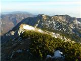 Kalška gorapogled proti Vrhu Korena