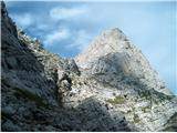 Prečenje Via de la Vita - Vevnica - Strug - Poncepogled proti bivaku Tarvisio in Koritniškem Mangartu