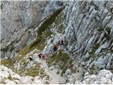 Prečenje Via de la Vita - Vevnica - Strug - Ponce.. vzpon na Veliko Ponco po slovenski strani, tudi st.družba iz Vevnice se ne da in nas že dohaja