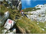 Prečenje Via de la Vita - Vevnica - Strug - Ponce... sestop proti Zacchiju, strme poti čez trave
