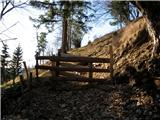 Javorca(Golte)Pašna ograda na poti.