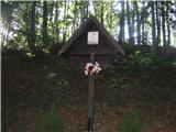 Znamenja (križi in kapelice) na planinskih potehTa križ je pa na asfaltirani cesti ko se spuščamo z Jošta preden pridemo v prvo vas .