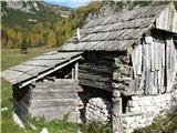 Slovenske planine v vseh letnih časihZa bohinjske planine je značilno , da so imeli spodaj odprt prostor za živino, kot nekakšen odprt hlev . Zgoraj pa je bil bivalen prostor za pastirja.