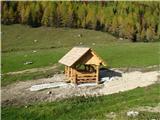 Slovenske planine v vseh letnih časihŽe od daleč zagledam novogradnjo.