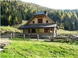 Slovenske planine v vseh letnih časihTu je planšarija , ki nam poleti nudi domače dobrote.