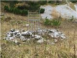 Slovenske planine v vseh letnih časihKamniti ostanki nekdanjih pastirskih koč.