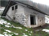 Slovenske planine v vseh letnih časihHlev na planini.