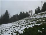 Slovenske planine v vseh letnih časihNa vrhu planine je neki oddajnik.