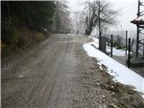 Slovenske planine v vseh letnih časihPo tem lepem makadamu do karavle, naprej je cesta malo slabša.