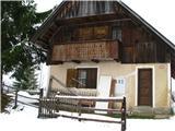 Slovenske planine v vseh letnih časihNekatere hiške so imele tudi ganke.