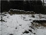 Slovenske planine v vseh letnih časihSrečamo  že davno opuščene zgradbe.