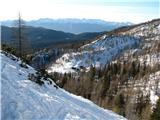Slovenske planine v vseh letnih časihŠe pogled na planino Lipanco s poti na Debelo peč.