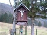 Znamenja (križi in kapelice) na planinskih potehNa odcepu peš poti na planino Sp. Vogar  nad Staro Fužino.