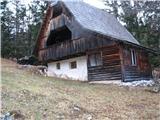 Slovenske planine v vseh letnih časihZraven je že malo obnovljen stan.
