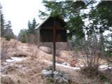 Znamenja (križi in kapelice) na planinskih potehKriž na planini Sp. Vogar -žal slaba slika.