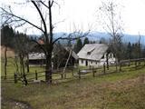 Slovenske planine v vseh letnih časihNasproti kapelice pa je visokogorska domačija Pr Figovco.