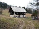 Slovenske planine v vseh letnih časihTu pa je v uporabi samo hlev v pašnem obdobju.