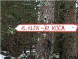 Slovenske planine v vseh letnih časihGre se v smeri planine Klek.