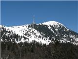 Slovenske planine v vseh letnih časihIn seveda televizijski stolp z vrhom Krvavca.