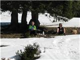 Slovenske planine v vseh letnih časihPlanina je izhodišče za prijetne nepredolge ture po ostalih krvavških planinah in vrhovih in tudi za prijeten počitek v vseh letnih časih.