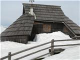 Slovenske planine v vseh letnih časihJeranova koča.