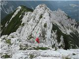Krnička gora iz Matkove KrniceLepo viden preplezan greben, skala je tu odlična