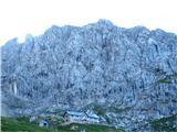 Monte Peralba (2694)Rifugio Calvi pod goro Monte Chiadenis