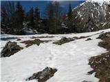 Slovenske planine v vseh letnih časihTakole zgleda Spodnje Kališče.