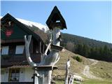 Slovenske planine v vseh letnih časihLepi dodatki pri koči.