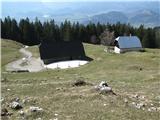 Slovenske planine v vseh letnih časihŠel sem ob robeh planine.