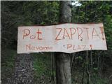 Slovenske planine v vseh letnih časihPot je zaprta. Nikjer nisem zasledil, da je pot zaprta ali pa sem slabo pregledal.