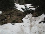 Slovenske planine v vseh letnih časihPod ravnico se začne sneg in tod imamo trenutno še zimo.