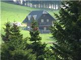 Slovenske planine v vseh letnih časihDesno že pri robu pašnika je na tej strani samo en objekt.