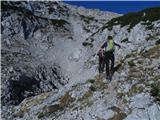 Veliki vrh, Dleskovecže na poti proti V. Zelenici in V. Vrhu, po novem markiran