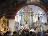 Romanje na Sv. VišarjeSv. maša na Svetih Višarjih