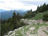 Slovenske planine v vseh letnih časihTo je cesta za na planino.