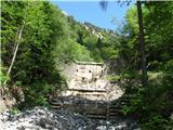 Slovenske planine v vseh letnih časihNa začetku lovske poti ukročen hudournik.
