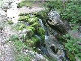 Slovenske planine v vseh letnih časihTokrat sem na koncu poti proti planini zavil čez potoček.