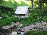 Slovenske planine v vseh letnih časihGremo mimo te male lopice.
