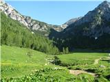 Slovenske planine v vseh letnih časihGrem proti planini Jezerce in naprej na Studorski preval.