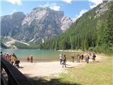 DolomitiTorek, 31.07.2012 - Lagoden sprehod okoli jezera Lago di Braies