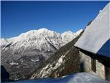 Planina Za Skalo in KaluderIzpred planine proti Bavškemu Grintavcu