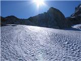 Mangartzjutraj je bil sneg trd, brez derez ne bi šlo