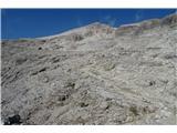 Piz Boepo vzhodnih pobočjih do južnega pristopnega grebena